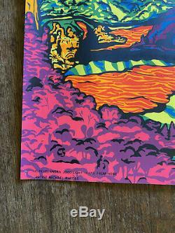Vintage Original 1970 Third Eye Blacklight Poster 2000 Light Years from Home