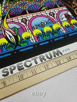 Vintage Original 1974 Spectrum #976 Black Light Poster 23x35 Psychedelic RARE