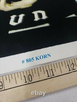 Vintage Original 2002 Korn Blackight Felt Poster 23x 35 Funky Ex++ RARE Giant