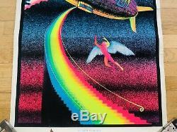 Vintage Original LED ZEPPELIN Poster Stairway to Heaven Neon BLACKLIGHT