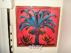 Vintage PALM blacklight poster Psychedelic Funky Features 1969 neon red blue NOS