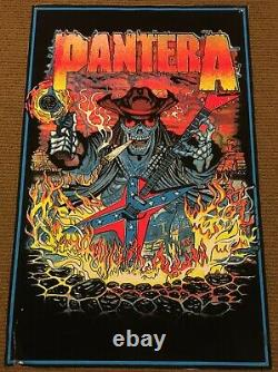 Vintage PANTERA cowboys from hell Blacklight Poster 90's