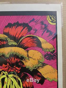 Vintage Paradise original blacklight fantasy poster 8787