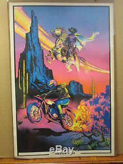 Vintage Phantom Rider 1972 Black light Poster original 10047