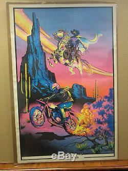 Vintage Phantom Rider 1972 Black light Poster original 10049