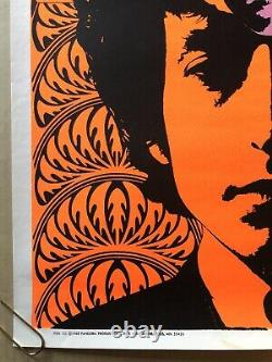 Vintage Poster Blacklight Bob Dylan Psychedelic Head Pandora 1967 Sposato 1960s