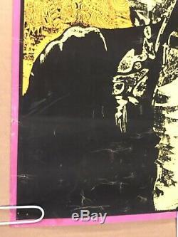 Vintage Poster Blacklight Bob Dylan Psychedelic Tambourine Man Joe Roberts Jr