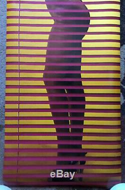 Vintage Poster Priscila Sexy Naked Woman Pinup Window 1970s 1980s Headshop Promo