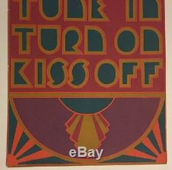 Vintage Poster Tune In Turn On Kiss Off 1960's Pin-up Headshop Hallmarkb 60's