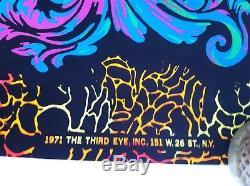 Vintage Psychedelic Blacklight Poster 1971 Third Eye Michael Rhodes Beginning
