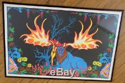 Vintage Psychedelic Blacklight Poster FOREST FANTASY PP-127 Russell AA Sales