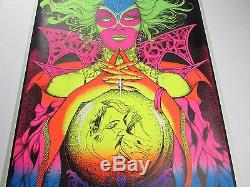 Vintage Psychedelic Blacklight Poster FORTUNE TELLER Gypsy Woman Bunnell 1971 #2