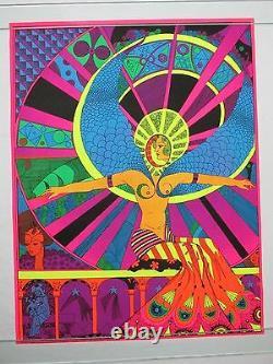 Vintage Psychedelic Blacklight Poster HALLELUJAH 1970 by Eduardo Arderi TRIPPY