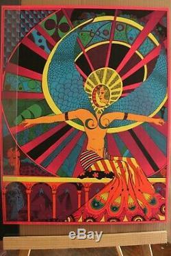 Vintage Psychedelic Blacklight Poster Hallelujah