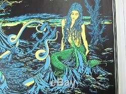 Vintage Psychedelic Blacklight Poster THE STORM 1970 by Bunnell Kraken Mermaid 3