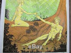 Vintage Psychedelic Blacklight Poster THE TOUCH 1969 William Eral Celestial Arts