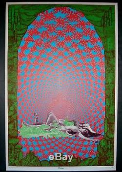 Vintage SATTY Mirage poster Psychedelic colorwheel blacklight MINT CONDITION NOS