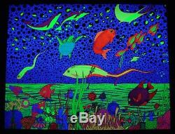 Vintage SEA OF DREAMS blacklight poster Perryn Gorchov Graphics San Francisco