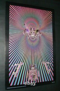 Vintage Satty ALCHEMICAL HORSES blacklight poster East Totem West 1970 fine art
