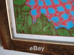 Vintage Satty MIRAGE poster Psychedelic colorwheel blackligt Celestial Arts 1969