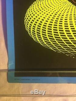 Vintage Spheres Blacklight Poster 1968 M. C. Escher Casey Posters 19x31
