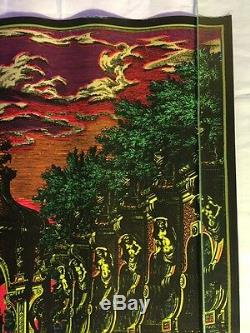 Vintage The Garden Blacklight Poster Funky Features Sausalito 19x27 Psychedelic
