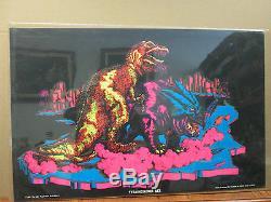 Vintage Tyrannosaurus REX 1971 Black light Poster 2853