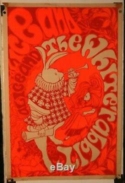 Vintage Very Rare White Rabbit Black Light Rock and Roll Poster