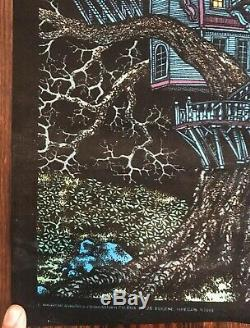Vintage Western Graphics Treehouse Poster Black Light Original NOS Unhung