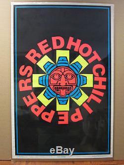 Vintage flocked Red Hot chili ppers black light Poster original 1994 7781