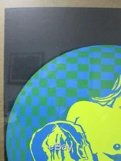 Vintage lovers Black Light Poster 1970's embrace psychedelic In#G3913