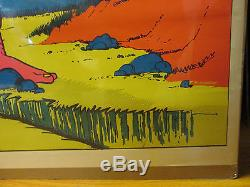 Vintage meanest son of a b in the valley troll blacklight 1971 poster 7733