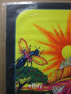 Vintage time out in time black light Poster original toad psychedelic 1970 12611