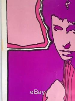 Visions Bob Dylan Poster Original Vintage Blacklight Pin-up Psychedelic Pandora