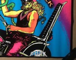 Voltar Satans Sidekick vintage psychedelic black light poster Devil Snake 1970s
