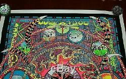 Vtg 1974 SPECTRUM Blacklight Poster 23x35 Psychedelic Occult RARE EXCELLENT CD