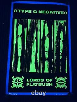 Vtg 1996 Type O Negative Extremely Rare Blacklight Poster Scorpio Posters USA