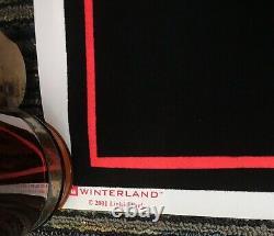 Vtg 2001 Linkin Park Asian Inspired Flocked Blacklight 23x35 Poster Winterland