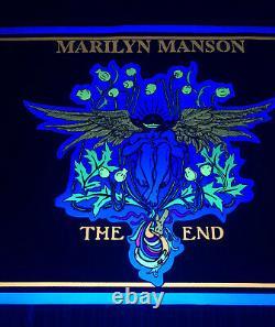 Vtg 90s Marilyn Manson Flocked Blacklight Poster The End 1996 Scorpio Posters