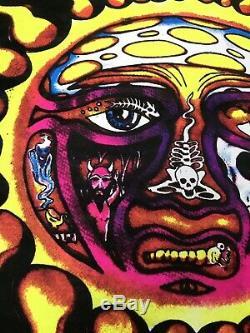 Vtg 90s Sublime Flocked Blacklight 24.5x22.5 Poster 1998 Punk Rock Reggae Sun