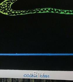 Vtg Cobra 991 Flocked Blacklight Poster Vibrant Color 35x23 Funky Enterprises
