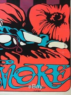 Vtg Original 40x26 Psychedelic Poster SMOKE Dream Merchants Smoking Pola Negri