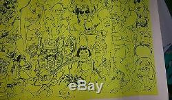 Vtg The Beach blacklight B. W Norris creative posters'70 hippie biker gang party