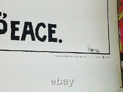 WOODSTOCK MUSIC LOVE PEACE 1970 VINTAGE ROCK & ROLL POSTER By PERAGNO III