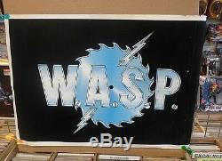 W. A. S. P. Vintage BLACKLIGHT POSTER 1985 FUNKY ENT. N. Y. Rolled