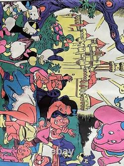 Wally Wood DISNEYLAND AFTER DARK Memorial Orgy Poster The Realist Blacklight