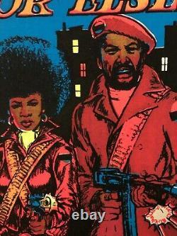 We Shall Overcome. Or Else! Vintage Blacklight Poster 1973 Black Panthers