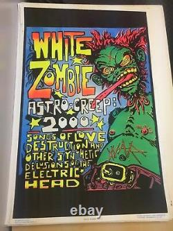 White Zombie Astro Creep 2000 Classic Original Vintage Blacklight Poster