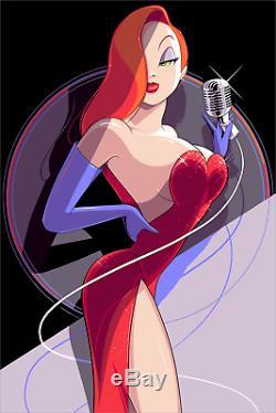 Who Framed Roger Rabbit Jessica Craig Drake Poster Print Blacklight 24x36 Mondo