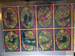 ZODIAC 1960's VINTAGE BLACKLIGHT NOS UNCUT POSTER SHEET By COCRICO 24x48 -NICE